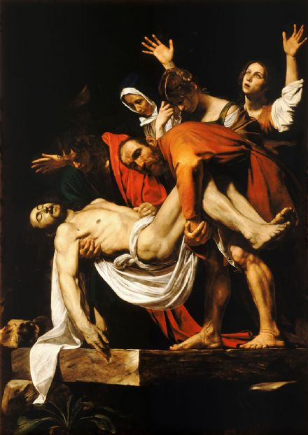 Caravaggio, Michelangelo Merisi da: The Deposition of Christ. Fine Art Print/Poster. Sizes: A4/A3/A2/A1 (002068)